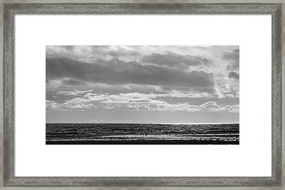 Quiet Shores After The Storm Framed Print