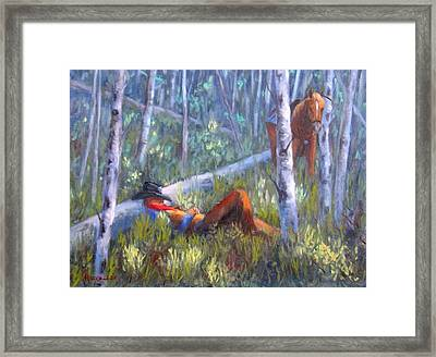 Quiet Siesta Framed Print by Debra Mickelson