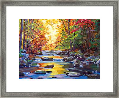 Quiet Stream Framed Print by David Lloyd Glover