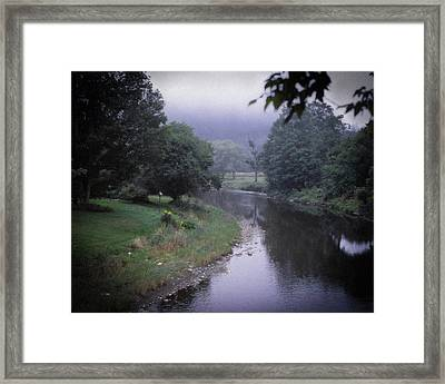 Quiet Stream- Woodstock, Vermont Framed Print