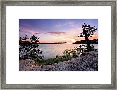 Framed Print featuring the photograph Quiet Sunset by Jennifer Casey