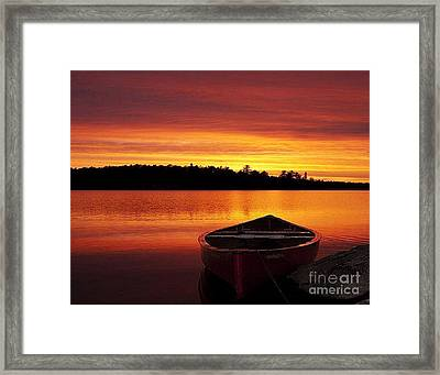 Quiet Sunset Framed Print by Rod Jellison