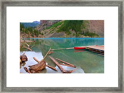 Moraine Lake I, Alberta Framed Print