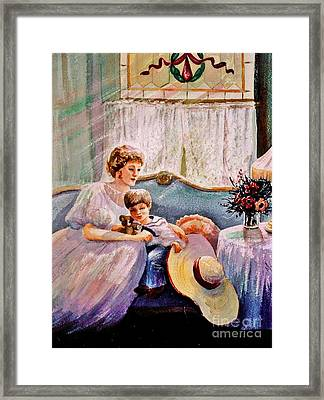Quiet Time Framed Print by Marilyn Smith