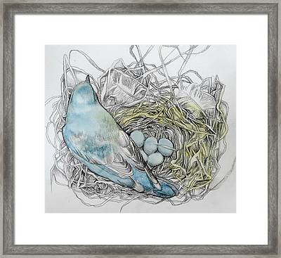 Framed Print featuring the drawing Quiet Time by Rose Legge
