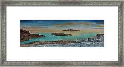 Framed Print featuring the painting Quiet Tropical Waters by Rod Jellison