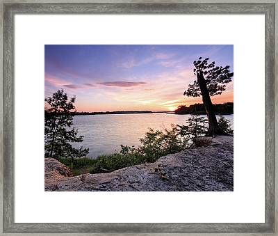 Framed Print featuring the photograph Quiet Waters Crop by Jennifer Casey