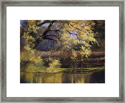 Quiet Waters Framed Print by Vicky Russell