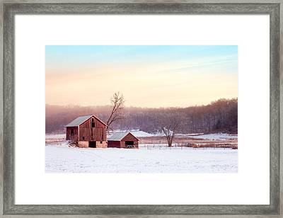 Quiet Winter Valley Framed Print