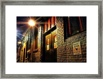 Framed Print featuring the photograph Quiet Zone by Jessica Brawley