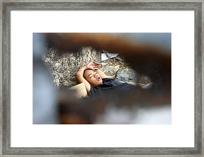 Quietly Quietly Framed Print by Jez C Self