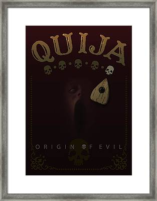 Quija, Origin Of Evil - My Movie Poster Framed Print by Attila Meszlenyi