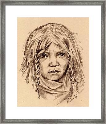 Quilcene Boy Framed Print