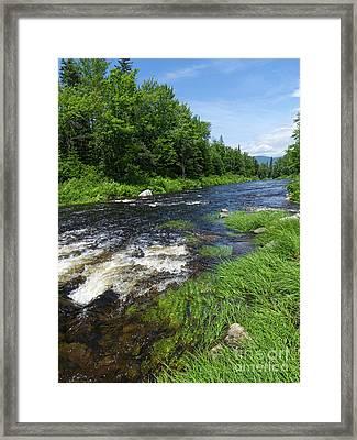 Quill Pond Brook Near Rangeley Maine  -70748 Framed Print
