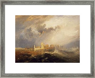 Quillebeuf  Mouth Of The Seine Framed Print by Joseph Mallord William Turner