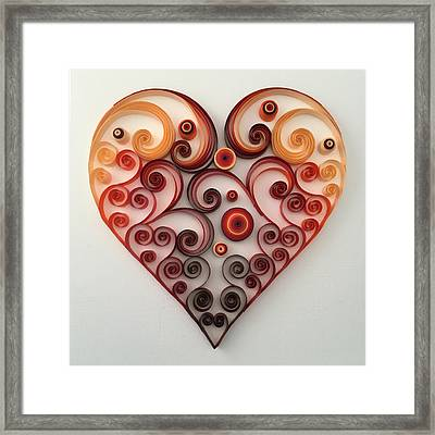 Quilling Heart 1 Framed Print by Felecia Dennis