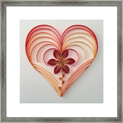 Quilling Heart 2 Framed Print by Felecia Dennis