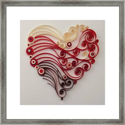 Quilling Heart 4 Framed Print by Felecia Dennis