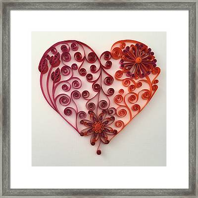 Quilling Heart 7 Framed Print by Felecia Dennis