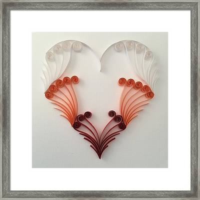 Quilling Heart 8 Framed Print by Felecia Dennis