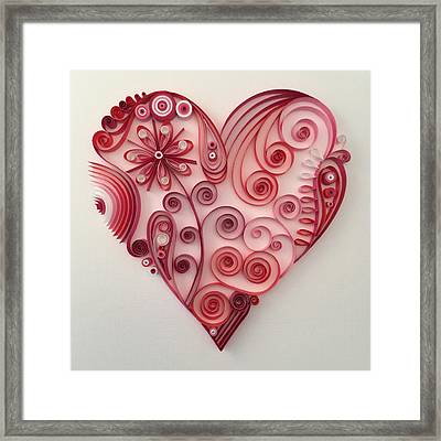 Quilling Heart 9 Framed Print by Felecia Dennis