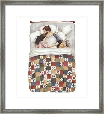 Quilt Cuddles Framed Print