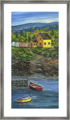 Quilt Day - Newfoundland Framed Print