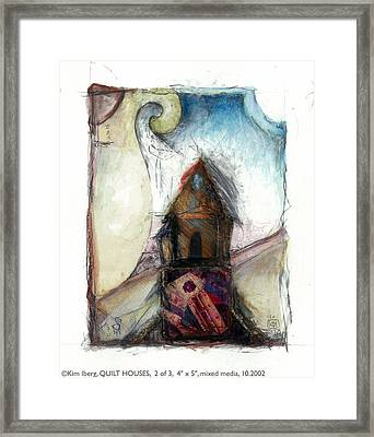 Quilt House 2 Of 3 Framed Print by Kim Iberg
