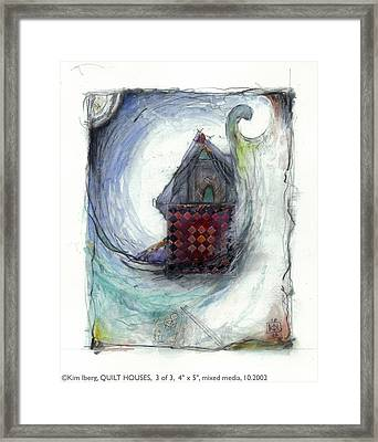 Quilt House 3 Of 3 Framed Print by Kim Iberg
