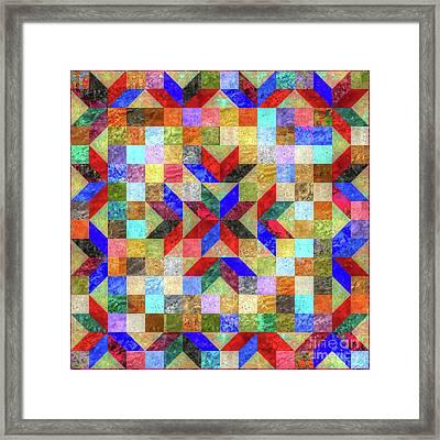 Quilt Pattern No. 1 Framed Print