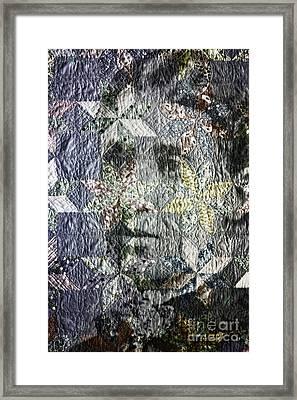 Quilt Portrait Framed Print by Jean OKeeffe Macro Abundance Art