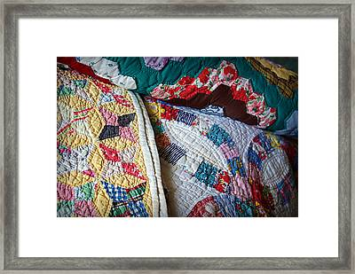 Quilted Comfort Framed Print by Cricket Hackmann