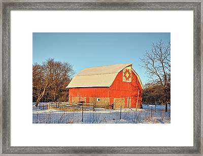 Quilted In Fayette Framed Print by Bonfire Photography