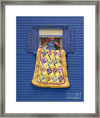 Quilted Showing Framed Print by Anne Klar