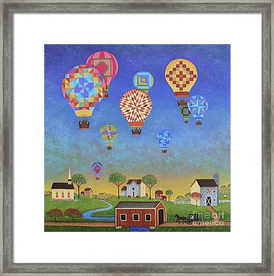 Quilted Sky Framed Print