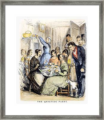 Quilting Bee, 1849 Framed Print by Granger