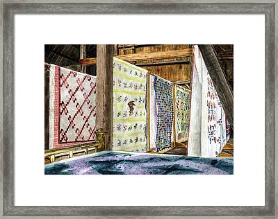 Quilts Framed Print