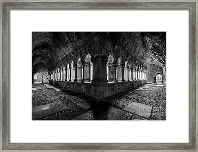 Framed Print featuring the photograph Quin Abbey by Dennis Hedberg