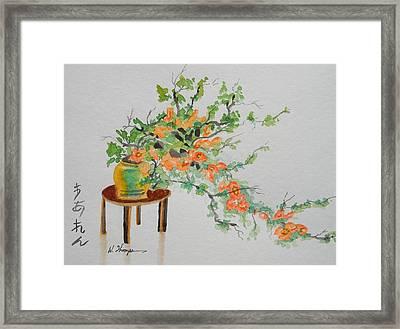 Quince Bonsai Framed Print by Warren Thompson