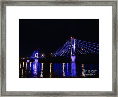 Quincy Bay View Light Reflection Framed Print