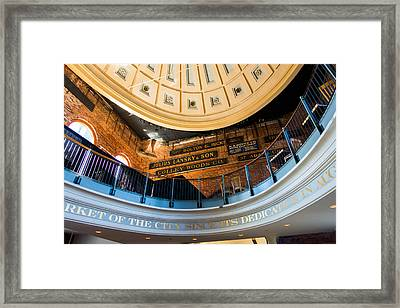 Quincy Market Vintage Signs Framed Print