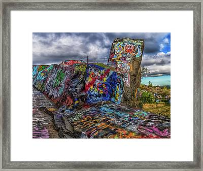 Quincy Quarries Graffiti Framed Print