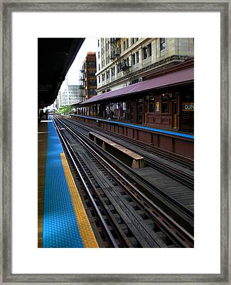 Framed Print featuring the photograph Quincy Train Station  by Joanne Coyle