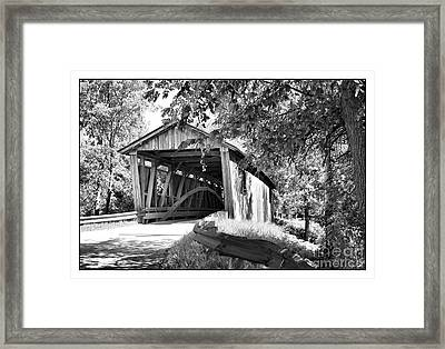 Quinlan Bridge Framed Print by Deborah Benoit
