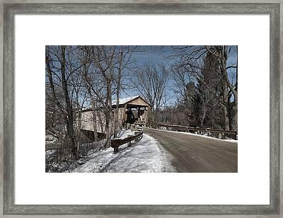 Quinlan Covered Bridge Framed Print by Wayne Toutaint