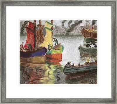 La Boca Caminito Framed Print