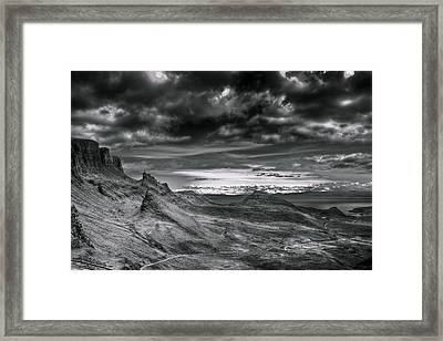 Quiraing On Isle Of Skye Scotland Framed Print