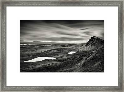 Quiraing Valley Framed Print by Dave Bowman