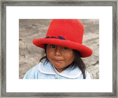 Quito Eyes Framed Print by Richard Mansfield