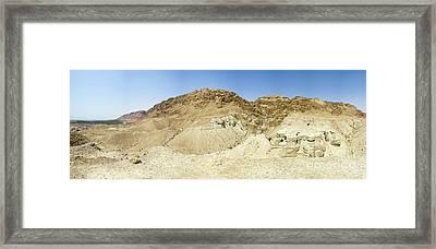 Qumran Caves Of The Dead Sea Scrolls Framed Print